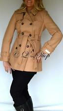Calvin Klein Camel Wool Blend Trench Coat Size US 6 NWT