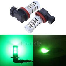 2 Pcs H11 Super Green LED Effect Headlight Fog Light Bulb 3000k 12v 92 SMD 4014