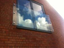 Glass Juliet Balcony - FRAMELESS GLASS JULIET BALCONY - All Sizes