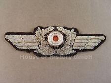 54824 Luftwaffe: Schirmmützenschwinge für Offiziers Schirmmütze, handgestickt