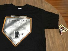 Vintage Kirby Puckett Minnesota Twins MLB Hall Fame Cooperstown XL T Shirt NEW