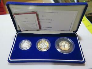 2003 ROYAL MINT SILVER PROOF PIEDFORT 3- COIN COLLECTION £2 £1 50p DNA WOMEN⭐🌈