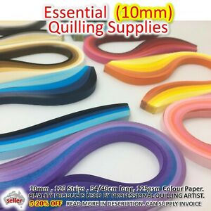 10mm PAPER QUILLING STRIPS Lucky Star Paper Craft DIY Gift Quill Supplies Craft