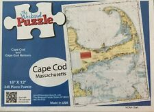 "Cape Cod puzzle 345 piece 18' x 12"" navigational chart of Cape Cod and Islands"