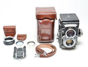 ROLLEIFLEX Zeiss Planar 75/3,5 modello K4F con esposimetro borsa ed accessori