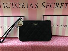 NWT  Victoria's Secret Black wristlet wallet purse coin zipper Bag