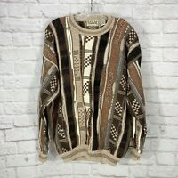 Vintage Cotton Traders 90's Coogi Style Cosby Biggie Textured Sweater Men's L