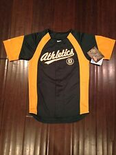Oakland Athletics NEW Youth X-Large Button Up Jersey by Stitches . MLB Baseball
