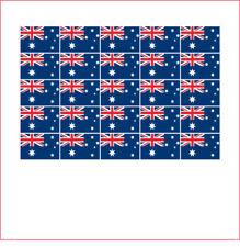 lot 25 Mini sticker autocollant vinyle 2 x 3 cm petit Drapeau AUSTRALIE