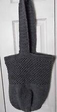 Fantastic Hand Crocheted BRAND NEW Tote Bag/Market/Beach Bag Gray Acylic Yarn