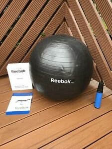 Gym Ball With Pump Reebok 75Cm Fit Ball Yoga Exercise Fitness Offers Welcome