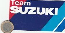 AUTOCOLLANT . Moto TEAM SUZUKI.
