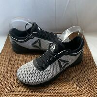 Reebok Mens Crossfit Nano Gray Black Cross Training Shoes Size 7