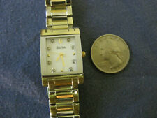 #206 ladys gold plate  and stainless steel BULOVA diamond  watch