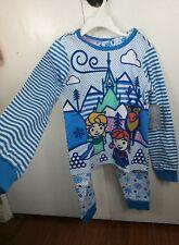 Girls Disney Frozen Pajamas Size 5 Four Piece 2 Long Sleeve Tops Pants PJs NWT