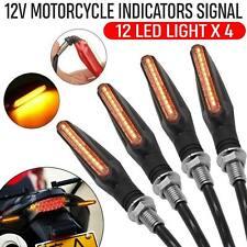 12 LED Light 4pcs Motorcycle Turn Signal Indicator Amber Motorbike 12V Universal