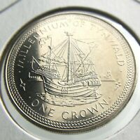 1979 Isle of Man One 1 Crown Millennium Tynwald Brilliant Uncirculated Coin P642