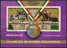 Guinea Ecuatorial Juegos Olímpicos de 1972, Caballos Cto utilizado Imperf m/s #a 92629