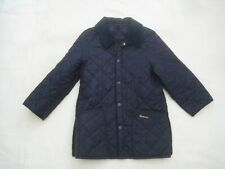 Barbour Liddesdale Navy Blue Quilted Jacket Coat - Age 6-7 years