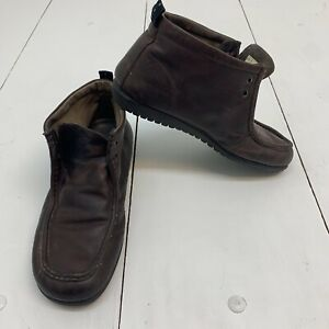 Hush Puppies Boots Men's Size 11.5 Brown Leather Mid Tops