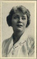 Jane Novak 1910s Kromo Gravure Trading Card - Silent Film Star