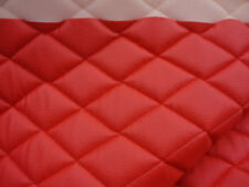 Foam Upholstery Red faux Champ diamond Quilted Vinyl fabric with 3/8