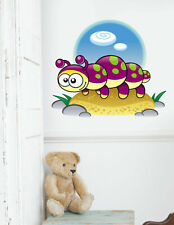 ced166 Full Color Wall decal Sticker animals caterpillar bedroom kids nursery