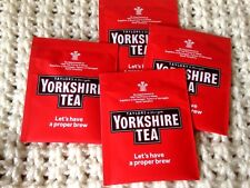 50 Yorkshire Tea Bags Individually Wrapped in Sachets / Envelopes BB 30/06/2019