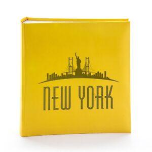"Kenro New York Skyline Yellow Photo Album for 200 Photos 6x4"" / 10x15cm - NY101"