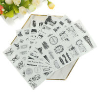 6Pcs Retro Tower Stickers For DIY Scrapbooking Planner Cardmaking Journaling Gw