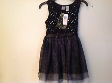Girlls Pogo Club of NY Dress SZ 7-8 Black w Rhinestone Bodice  NWT  Gorgeous