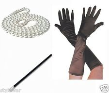 Ladies Gatsby Fancy Dress Accessories Flapper 20's Theme Charleston Girl Costume 48 Inches Plastic Pearl Bead Necklace