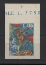 Repubblica 1976 Arte Boccioni lire 150 non dentellato e senza il nero N963