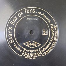 """12"""" 78rpm PATHE 5445 HARRY FRAGSON baby`s box of toys / in gay paree"""