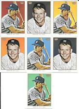 MICKEY MANTLE   2009 TOPPS 206   COMPLETE (7) CARD CHECKLIST SERIES  1-7