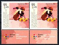 3543 postfrisch Paar waagerecht Rand unten BRD Bund Deutschland Jahrgang 2020
