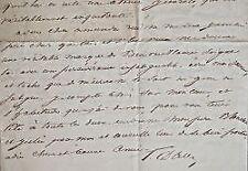 Le comte Pierre Raymond Hector d'Aubusson écrit à sa cousine Amanda d'Aubusson.