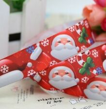 "100CM 22mm 7/8"" SANTA FATHER CHRISTMAS GROSGRAIN RIBBON 99p CAKE PARTY XMAS"