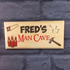 Personalised Man Cave Plaque / Sign / Gift - Beer Nails Shed Fathers Day Dad