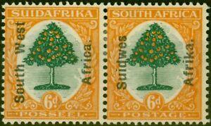 S.W.A 1926 6d Green & Orange SG43 Fine Lightly Mtd Mint