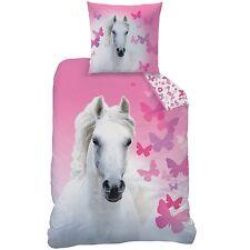 ropa de cama con Caballo Blanco Mariposa 135 x 200cm 80 x 80cm