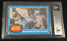 KENNY BAKER R2-D2 TOPPS CARD STAR WARS AUTOGRAPHED SIGNED AUTO BAS BECKETT BGS
