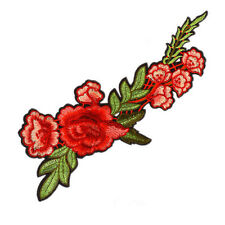 2 Embroidery Rose Flower Sew On Patch Badge Bag Hat Jeans Dress Applique Craft