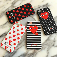Comme Des Garcons CDG PLAY Supreme Hard Matte Case Cover For iPhone 6 6S 7 Plus