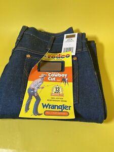 Wrangler Mens Pro Rodeo Cowboy Cut 13MWZ Original Fit Jeans Very Stiff 34 x 32