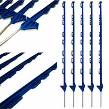 Blue Plastic Fencing Pins Posts Stakes for Temporary Event Fencing 1m high, 5 Pk