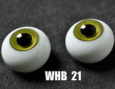 Good Grass Green Iris with stripes Glass 12mm Eyes for Ball Joint 1/6 BJD Doll
