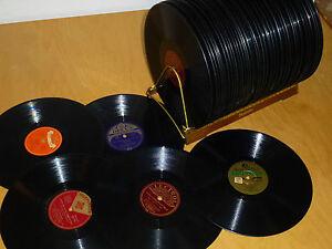 30 Schellackplatten SCHLAGER HITS TANZMUSIK für GRAMMOPHON u. PLATTENSPIELER 78N
