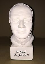 "Pope John Paul II Bust Signed C. Parsons 86'(9"" Tall White Ceramic)"