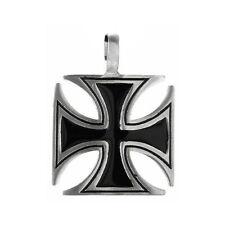 Necklace pewter Iron Cross Gothic Collier étain Croix de fer Gothique